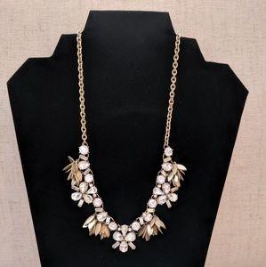 J. Crew Gold/Rhinestone Necklace